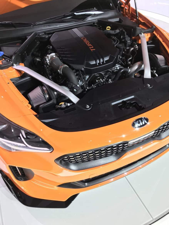 2018 kia stinger orange engine