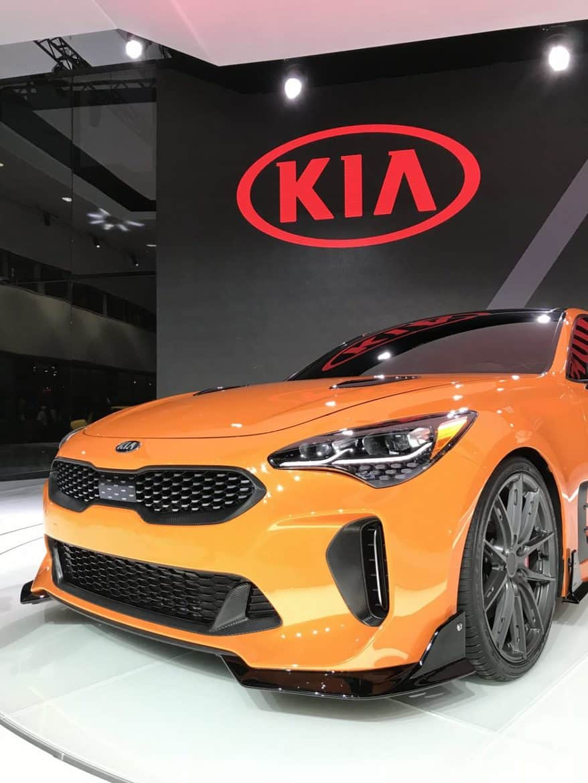 2018 kia stinger orange front