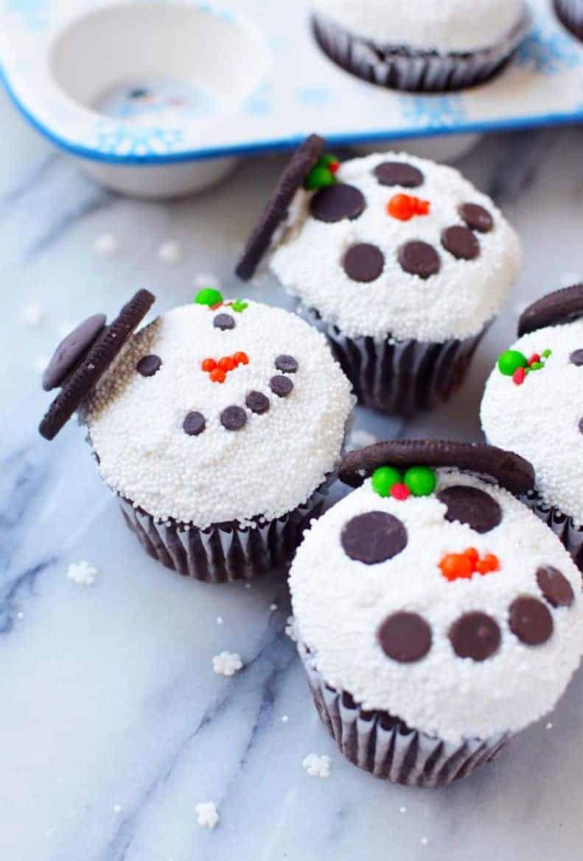 snowman cupcake recipe
