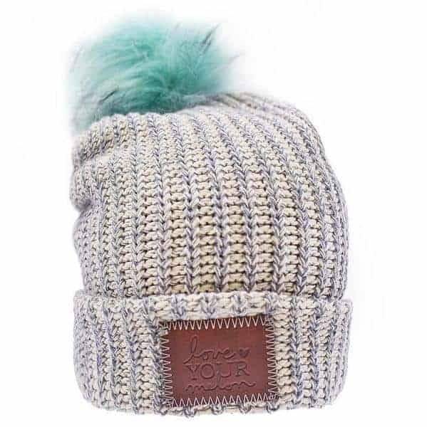 beanie gray speckled pom beanie mint pom 1 grande - Holiday Gift Guide 2017: Gifts That Give Back