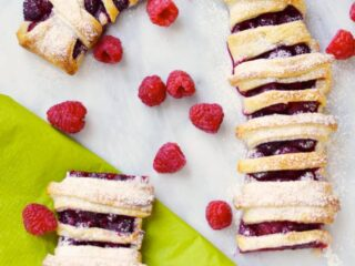 candy cane puff pastry recipe