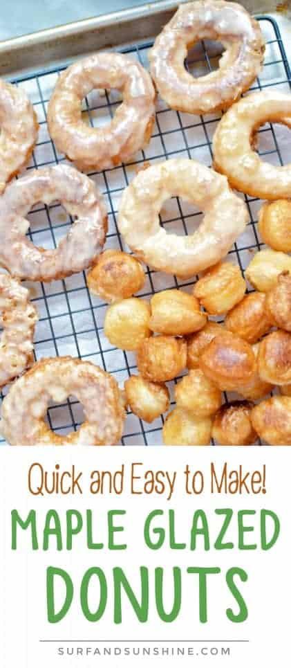 short Maple glazed donuts recipe pinterest