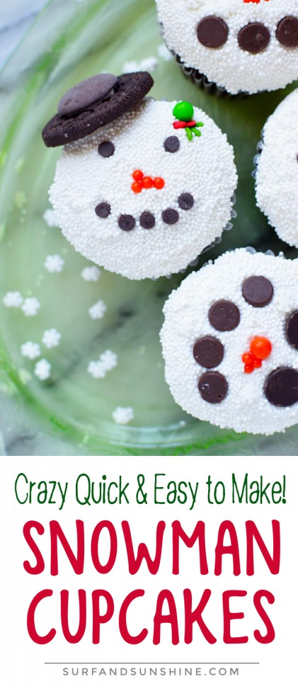 short snowman cupcake recipe pinterest