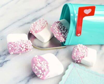 valentine chocolate dipped marshmallows recipe