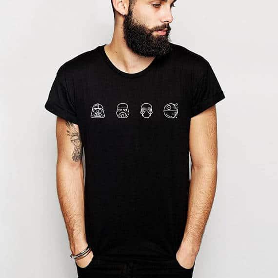 Gift Ideas for Star Wars The Last Jedi Fans darkside t shirt