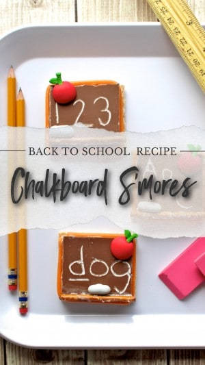 back to school chalkboard smores recipe