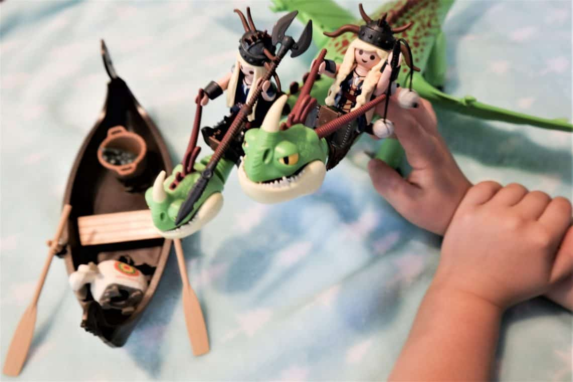 playmobil dreamworks twins dragon