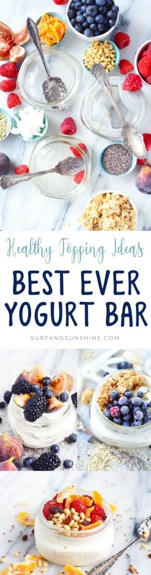 yogurt bar healthy topping ideas