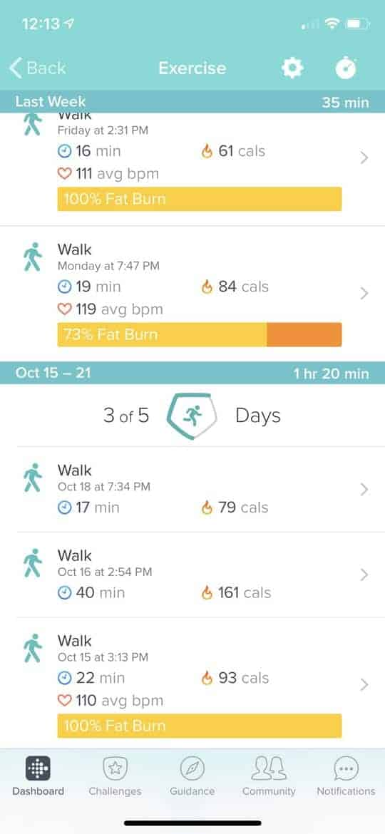 fitbit excercise trackers