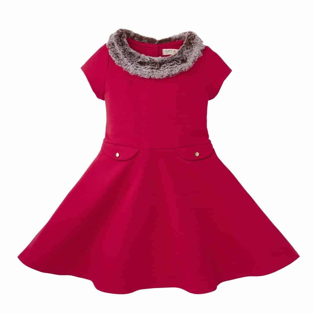 ponte skater dress with faux fur collar red 6 12 months hope and henry girls organic clothing 1024x1024 - 2018 Holiday Gift Guide: Gifts that Give Back