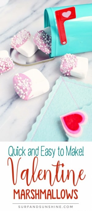 Valentine Chocolate Dipped Marshmallows recipe pinterest new