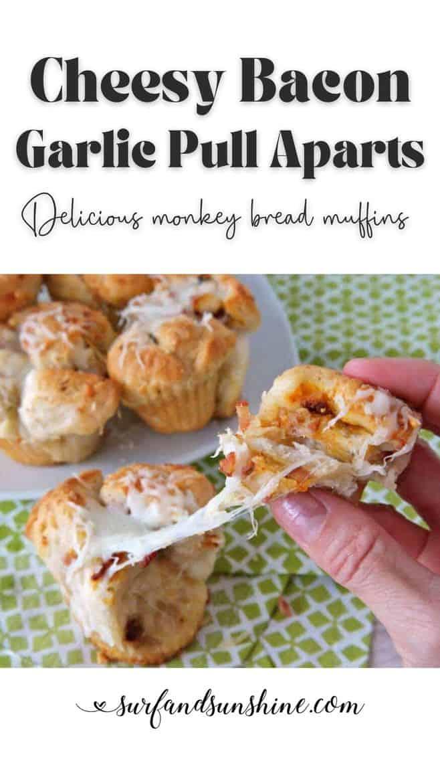 Vertical Cheesy Bacon Pull Aparts Recipe