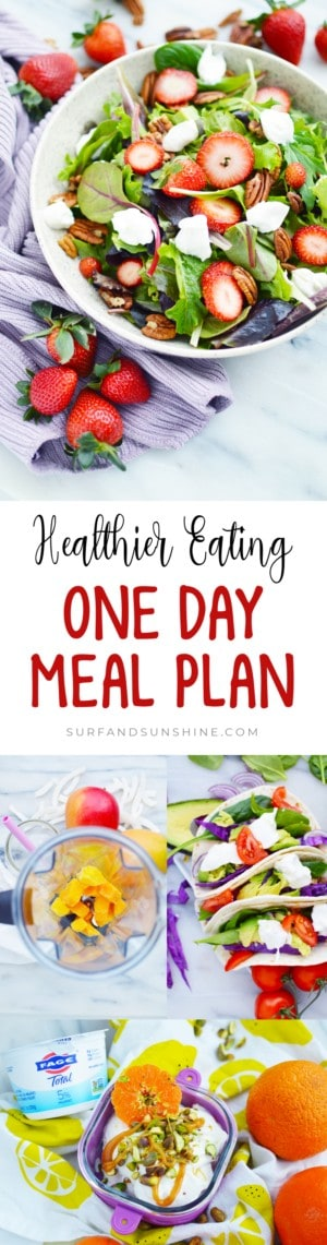 one day meal plan for healthier eating with fage custom