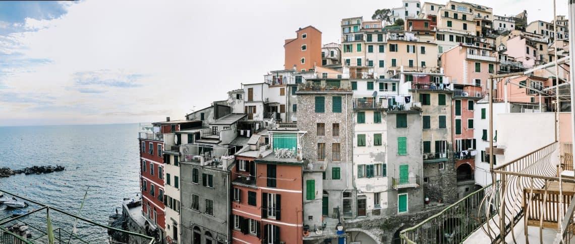 Cinque terre italy riomagiorre balcony view airbnb