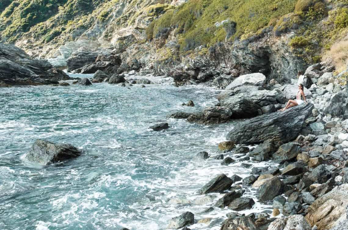 Mamma Mia Skopelos Greece Rocks by Church 1