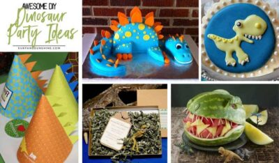 awesome DIY dinosaur party ideas twitter