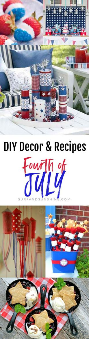 Easy and Festive DIY 4th of July Decorations and Recipes