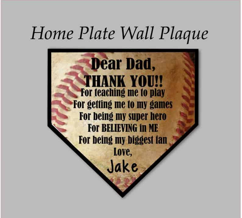 home plate wall plaque