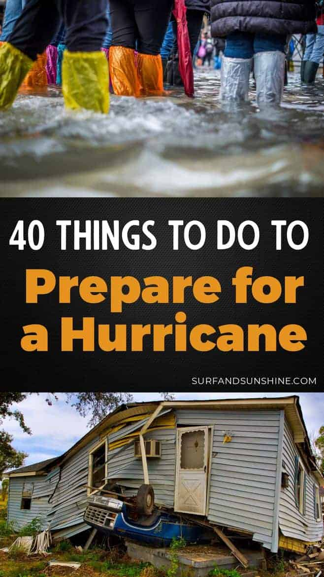 A comprehensive checklist of 40 Ways to Prepare for a #Hurricane & it\'s aftermath. No matter where you live, it certainly doesn\'t hurt to take a look and keep these in mind - even just in case for future minor events like a power outage or water shortage. STAY SAFE FRIENDS!