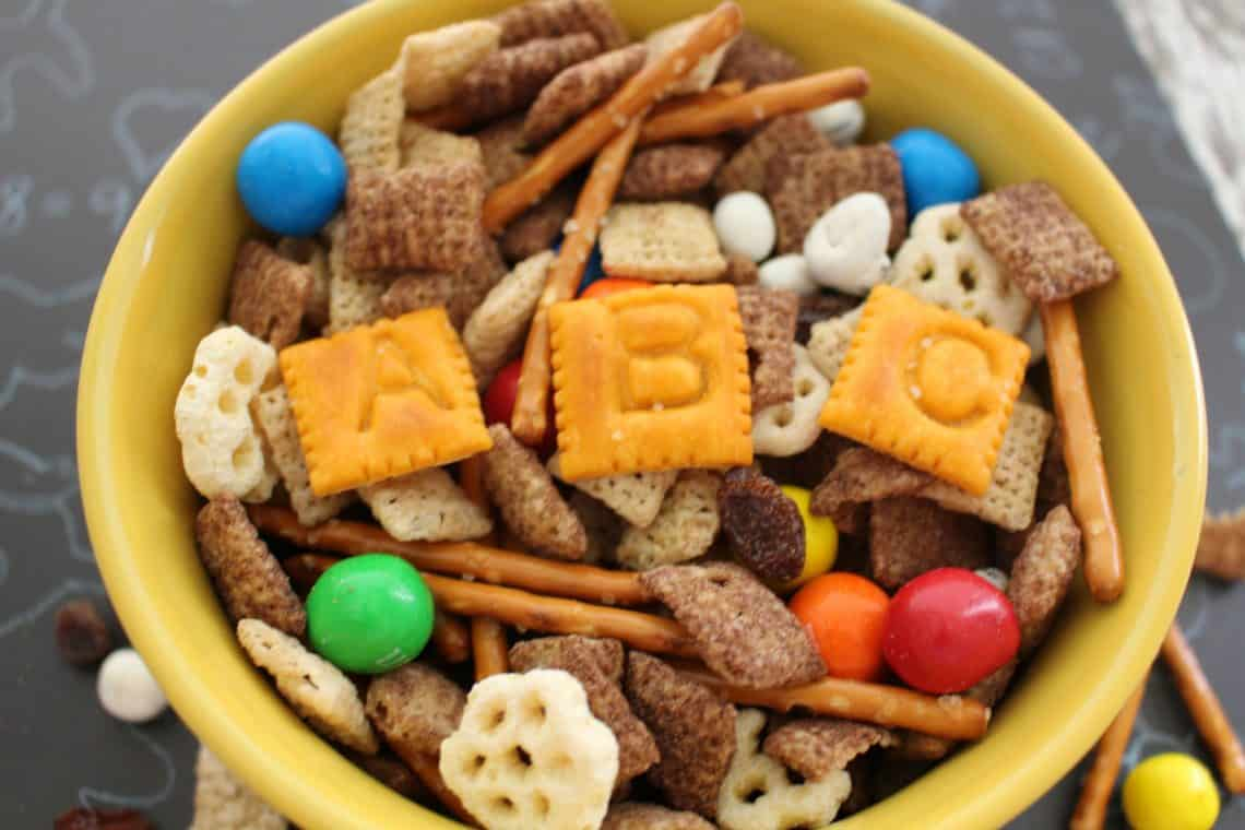 back to school snack mix recipe long