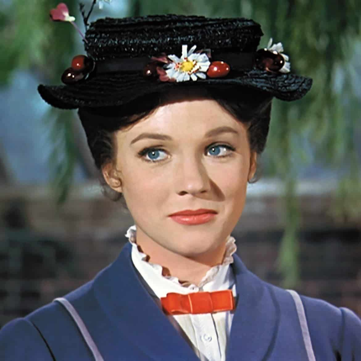 julie andrews mary poppins hat