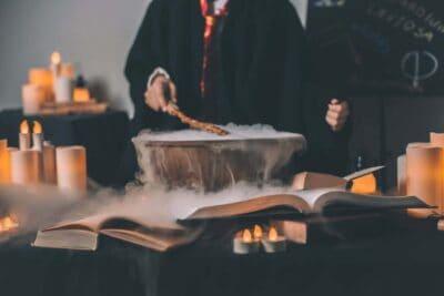 harry potter spellbook cauldron