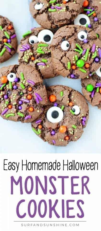 halloween monster cookies recipe