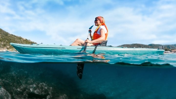 Mamma Mia Island Skopelos Greece kayaking