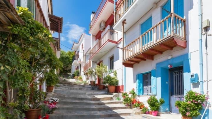 Mamma Mia Island Skopelos Greece town