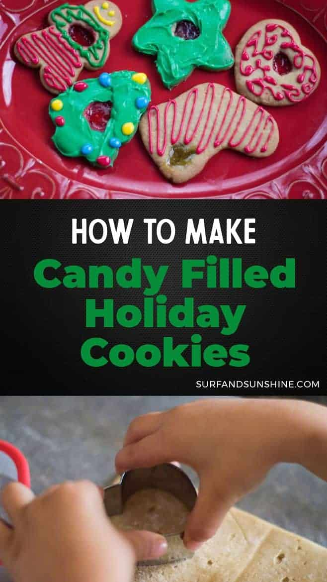 How to Make Candy Filled Holiday Sugar Cookies - an easy and fun recipe that you\'ll want to make a fun family tradition via @jeanabeena