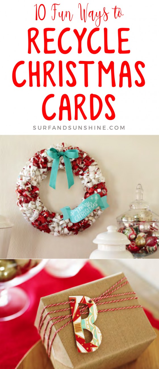 10 fun WAYS TO recycle christmas cards new