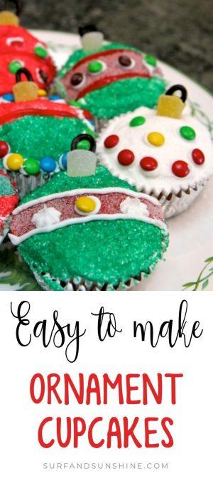 Easy to make christmas ornament cupcakes custom