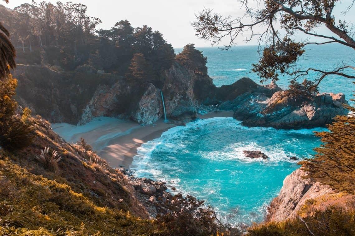 beach ocean cliffs