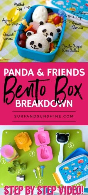 panda onigiri bento box recipe rice balls pinterest new