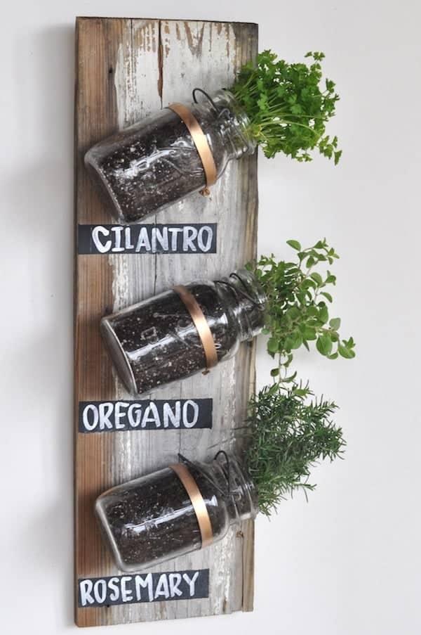 herb garden mason jar crafts