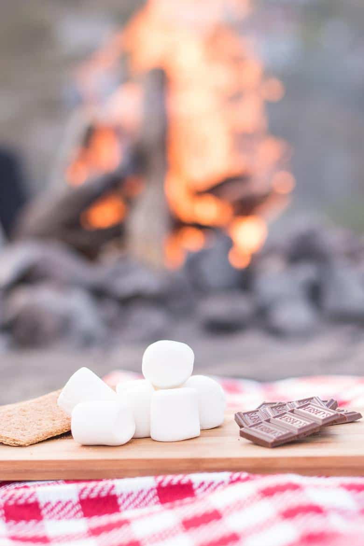 smores by a campfire