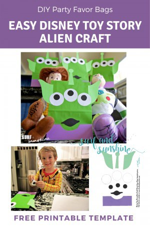 Disney Toy Story Alien Party Favor Bags Free Printable Template