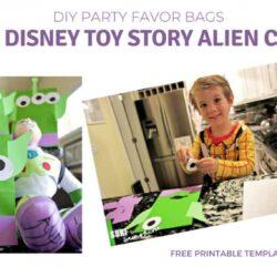 Easy DIY Disney Toy Story Alien Craft: Party Favor Bags