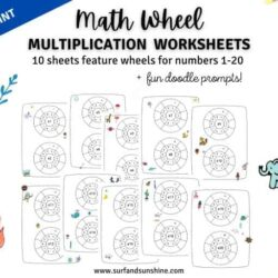 10 Free Math Wheel Multiplication Worksheets
