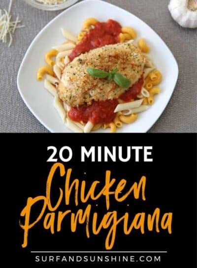 20 minute chicken parmigiana recipe