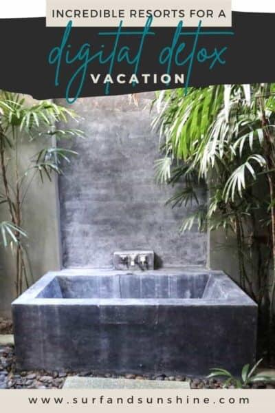 ideas for a digital detox vacation