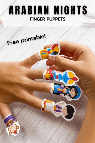 Aladdin Free Printable Finger Puppets