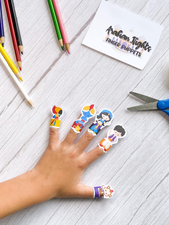 Arabian Nights Aladdin Free Printable Finger Puppets