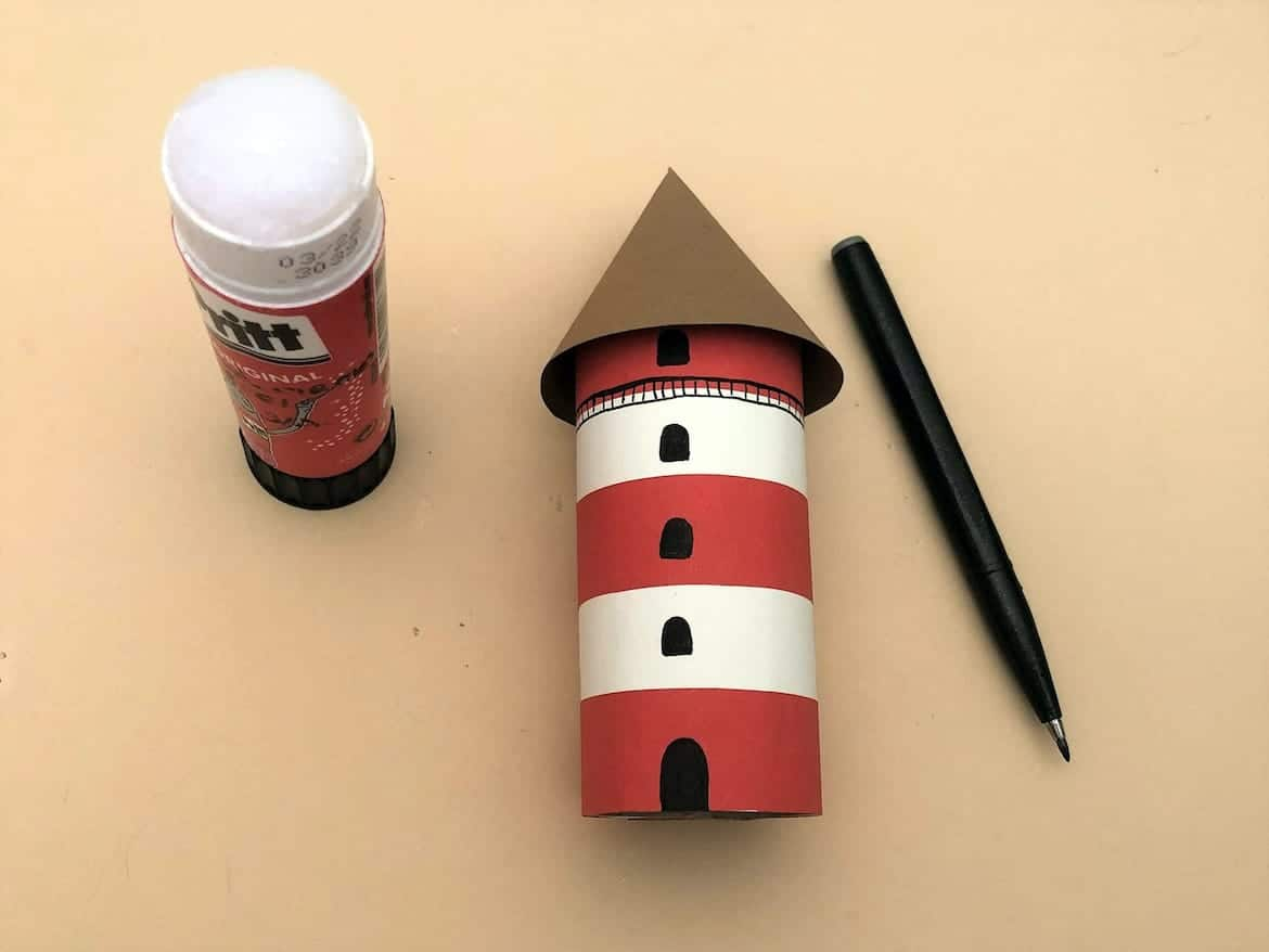 Lighthouse Paper Craft for Kids 10