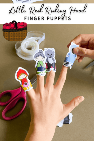 Little Red Riding Hood Free Printable Finger Puppets