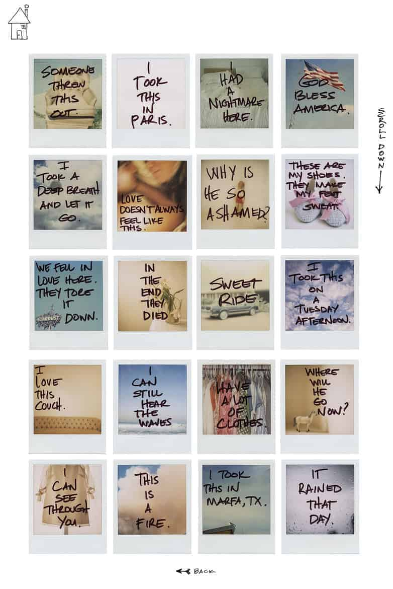 polaroid pictures idea - story with captions