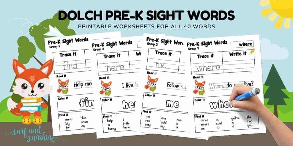 Sight Words Pre K SAS Blog Graphic