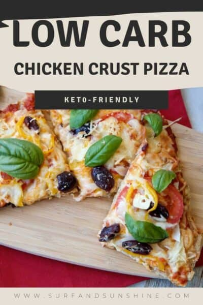 keto chicken crust pizza recipe pin