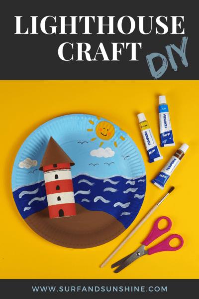 diy lighthouse craft idea for kids 1