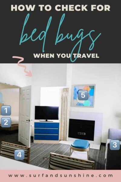 how to check for bed bugs when you travel